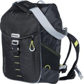 Basil daypack tas Miles led black