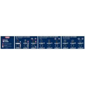 Magneetplaat Abus keuzewijzer sloten - 98x15 cm