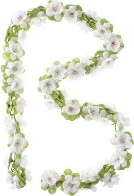 Basil bloemslinger wit