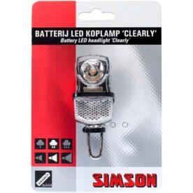 Simson koplamp Clearly batterij 7 lux