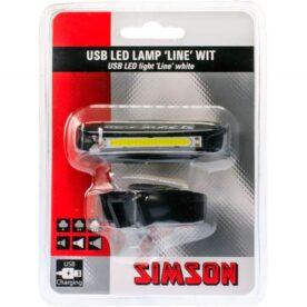 Simson koplamp Line usb 8 lux