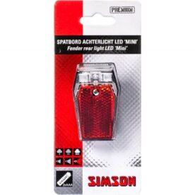 Simson achterlicht Mini batterij spatbord