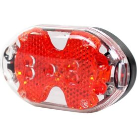 Simson achterlicht 5 led batterij zadelpen