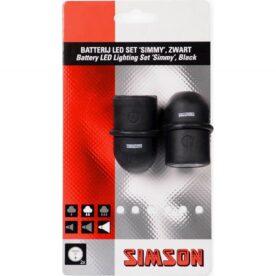 Simson verlichtingsset Simmy batterij zwart