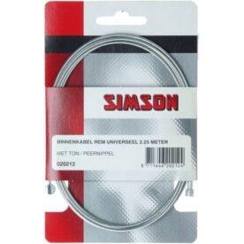 Simson rem binnenkabel 2.25m 2 nippels ton/peer