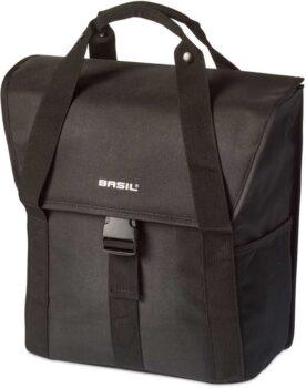 Basil tas Go 18ltr solid zwart