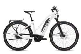 FLYER Upstreet5 7.43 Comfort (603Wh) Dames 50 cm Pearl White Gloss